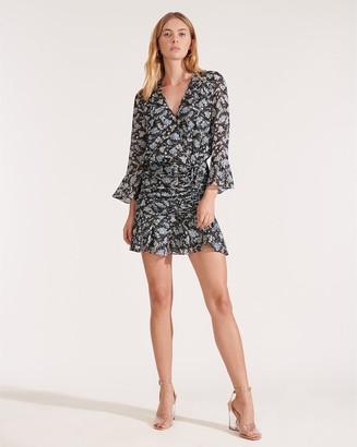 Veronica Beard Sean Petal-Printed Dress