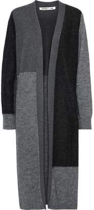 McQ Color-block Ribbed-knit Cardigan