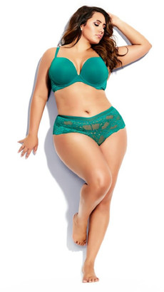 City Chic Bronte Push Up Bra - emerald