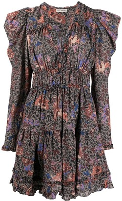 Ulla Johnson Floral Print Ruffle Dress