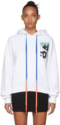 Off-White Off White White Spray Blurred Over Hoodie