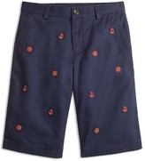 Brooks Brothers Boys' Nautical Motif Embroidered Chino Shorts - Little Kid, Big Kid