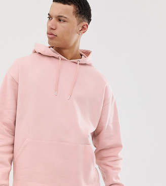 Asos Design DESIGN Tall oversized hoodie in light pink
