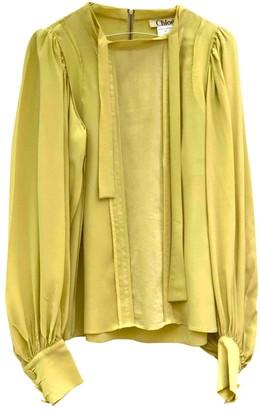 Chloé Green Silk Top for Women Vintage