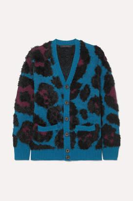 Marc Jacobs Runway Jacquard-knit Cardigan - Blue
