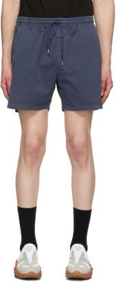 Schnaydermans Navy Cotton Twill Shorts