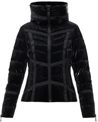 Goldbergh Mirror Curved-seam Hooded Down Ski Jacket - Black