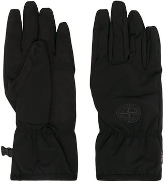 Stone Island Logo Patch Gloves