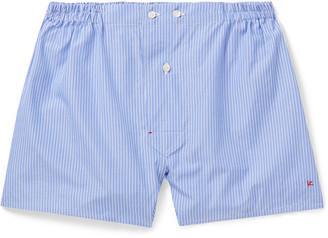 Isaia Striped Cotton Boxer Shorts
