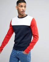 Tommy Hilfiger Crew Sweatshirt Icon Colour Block In Navy