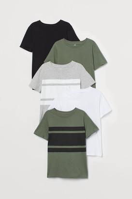 H&M 5-pack T-shirts - Green