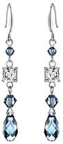 Swarovski Callura callura Women's Earrings Blue - Denim & Silvertone Geometric Drop Earrings With Crystals