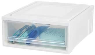 Iris Usa IRIS USA, Shallow Plastic Box Chest Drawer Unit, 4 Pack, White