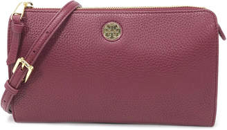Tory Burch Brody Pebbled Leather Wallet Crossbody