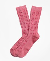 Brooks Brothers Cable-Knit Socks