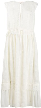 Twin-Set Broderie Anglaise Midi Dress