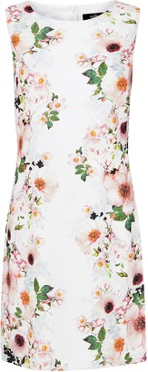 Wallis White Floral Print Shift Dress