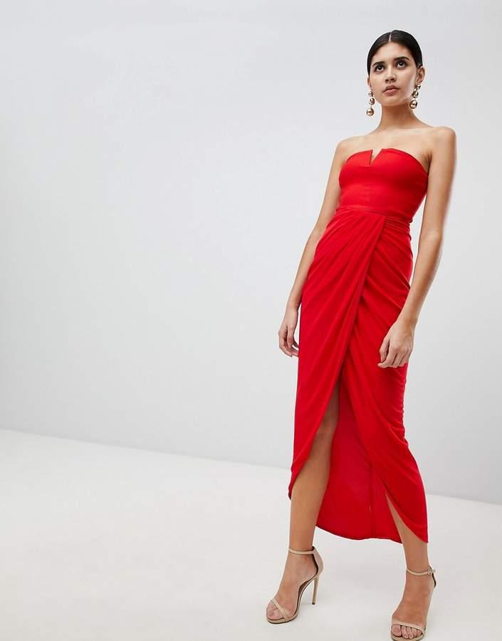 Rare London Red Lace Mini Bodycon Dress Size 8-10