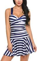 Avidlove Women's One Pieces Swimsuits Striped Slim Swimwear Padded Swim Dress Sexy Bikinis XL