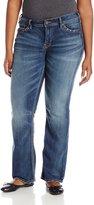 Silver Jeans Junior's Plus-Size Suki Mid Rise Slim Bootcut Jean