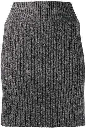 Alberta Ferretti metallic knit skirt