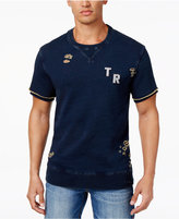 True Religion Men's Destructed Layered-Look Cotton Sweatshirt