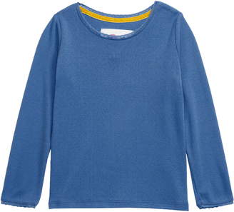 Boden Mini Long Sleeve Pointelle Tee