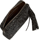 Anya Hindmarch Twinkle glitter-finished leather clutch