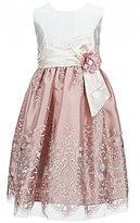 Jayne Copeland Big Girls 7-12 Embroidered Overlay Sleeveless Dress