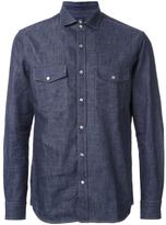 Kent & Curwen chest pockets denim shirt