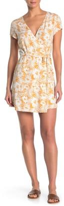 L-Space Suzie Tropical Print Wrap Cover-Up Dress