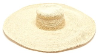Greenpacha Mallorca Straw Wide-brim Hat - Womens - White
