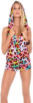 Luli Fama Salty Skin Hoodie Romper in Multicolor (L459849)