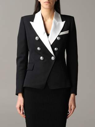 Balmain Jacket Double-breasted Jacket With Contrasting Collar