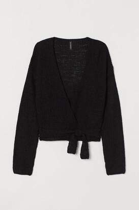 H&M Short wrapover cardigan