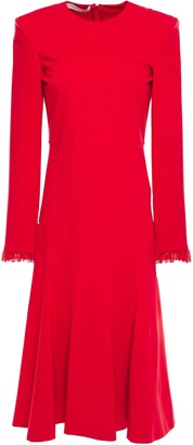Philosophy di Lorenzo Serafini Lace-trimmed Jersey Midi Dress