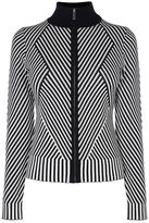 Karen Millen Striped Knitted Cardigan