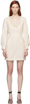 Situationist SSENSE Exclusive White Leather Dress