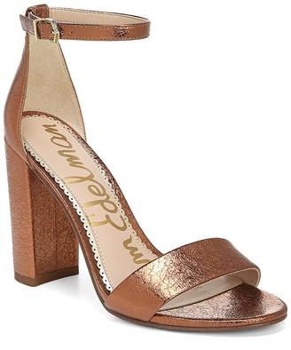 Sam Edelman Yaro Metallic Leather Block Heel Sandal