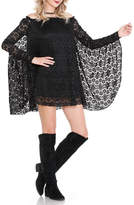 Noa Elle Black Lace Tunic