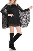 Noa Elle Black Lace Tunic