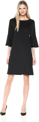 Kasper Women's Long Bell Sleeve Dress
