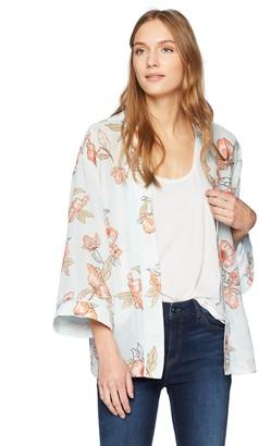 J.o.a. Women's Long Sleeve Kimono Cardigan