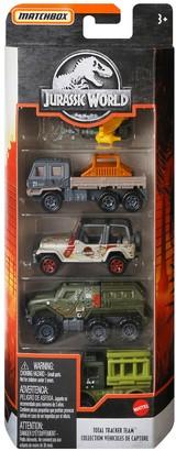 Mattel Matchbox Jurassic World 5-Pack Tracker Team Vehicles