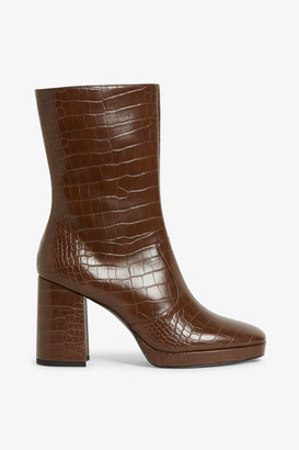 Monki Faux leather boots