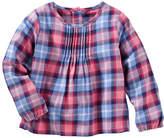 Osh Kosh Oshkosh Long Sleeves Woven Plaid Top -Toddler Girls