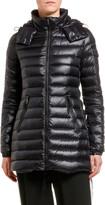 Moncler Menthe Removable-Hood Horizontal Puffer Coat
