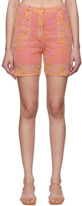 Jacquemus Pink and Orange Le Short Lavandou Shorts