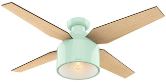 Hunter Fan Company Cranbrook Low Profile Mint Ceiling Fan w/ Light/Rem