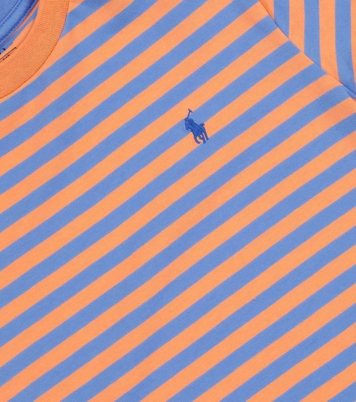 Thumbnail for your product : Polo Ralph Lauren Kids Striped cotton-blend T-shirt
